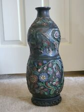 New listing Antique Chinese Bronze and enamel Champleve vase