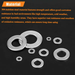 600pcs Washers set Stainless Steel Flat & Spring Washer Assortment Durable
