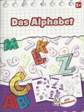 Übungsheft + Das Alphabet + Lesen lernen + Mit Aufklebern + Vorschule ab 5 Jahre