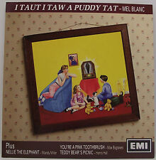 "I TAUT I SAW A PUDDY CAT / NELLIE THE ELEPHANT EP 7"" Vinyl Single 45rpm PS EX+"