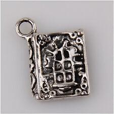 12 Book Tibetan Silver Charms Pendants Jewelry Making Findings HN38