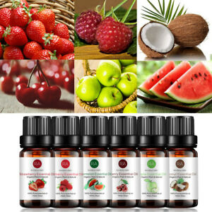 6PCS Fruit Essential Oil Pure & Natural For Aromatherapy Diffuser Fragrance UK