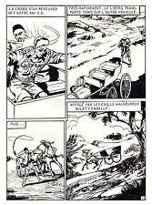 MAQUIS LIBYEN (DECOUDUN)  PLANCHE ORIGINALE TOMIC ARTIMA PAGE 15