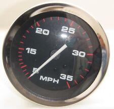 61467 NEW Teleflex 5 - 35 MPH Speedometer Black / Red Stainless Gauge FREE SHIP!