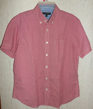 """EXCELLENT MENS BANANA REPUBLIC """"SOFT WASH"""" RED & WHITE CHECK SHIRT   SIZE M"""
