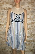 Free People Anthropologie Dress Size 6 Empire Blue Boho