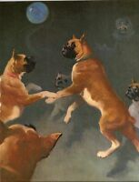 Dreamy Foggy Boxers Balloon Dog Wesley Dennis Book plate print