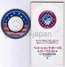 "PET SHOP BOYS Go West/Shameless JAPAN 3"" CD TODP-2426 UNSNAPPED Free S&H/P&P"