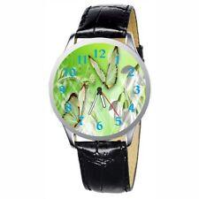Armbanduhren aus Edelstahl mit Kunstleder-Armband für Erwachsene