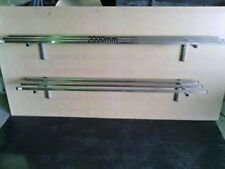 STAINLESS STEEL 2000x 300 POTRACK/ STORAGE SHELF MADE OUT OF GRADE 304 25mm TUBE