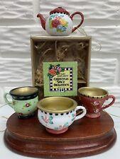 Mary Engelbreit 1999 Christmas Spice Ceramic Ornaments or Figurines Set of 4 Nib
