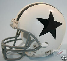 DALLAS COWBOYS (WHITE THROWBACK) Riddell VSR4 Mini Helmet