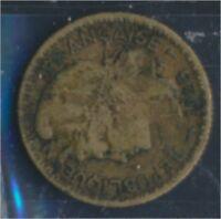 Togo 2 1925 sehr schön Aluminium-Bronze 1925 1 Franc Laureate (8977182