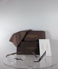 Brand New Authentic Gold & Wood VTa Rimless Eyeglasses Wood Gold N01 60