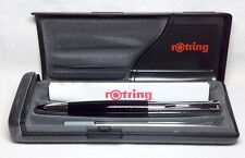 Rotring INITIAL Roller Ball Pen Black/Silver New In Box Product #48665