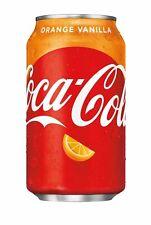 NEW Coca-Cola Orange Vanilla Flavor Soda 12 Oz Can FREE WORLDWIDE SHIPPING