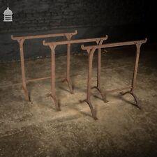 Set of 3 Victorian Riveted Wrought Iron Blacksmith Trestles