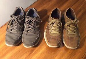 Two Pairs of Men's Skechers Memory Foam Sneakers Size 9 & 1/2 (Lot of 2)