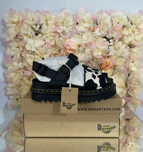 Dr Martens Leather Voss Animal Cow Print, UK 8, BRAND NEW, Discontinued, RARE
