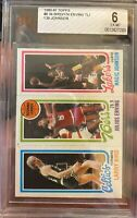 1980-1981 Topps Larry Bird/ Magic Johnson Rookie Card EX-MT 6
