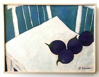 Don Furmas Painting Santa fe New Mexico Artist Still Life Eggplant