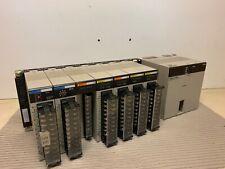Omron PLC PA204 Power, Sysmac C200HE CPU42, TS002, DA002 D/A, 2x Input 3x Output