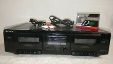 ��Watch Video -SonyTc-We305 Dual Cassette Tape Deck Recorder Hi Speed DubDouble