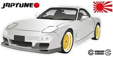 Mazda RX-7 Series 6  - White with Gold Rims - JDM Twin Turbo  - JapTune Brand