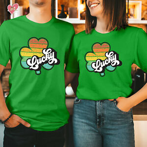 St Patricks Day T shirt Happy St Patricks Day Tshirt COLOURFUL LUCKY CLOVER 255