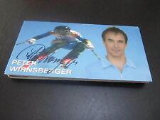 51279 Peter Wirnsberger Ski Alpin Olympia Med. original signierte Autogrammkarte