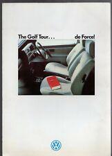 Volkswagen Golf Tour 1.8 Mk2 Limited Edition 1988 UK Market Sales Brochure