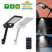 48 LED Solar Light Solar Wall Street Light Motion Sensor Outdoor Lamp w/ Remote
