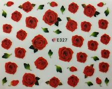 Nail Art 3D Decal Stickers Red Roses E327