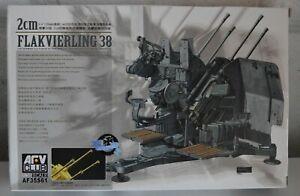 AFV CLUB 1/35 2cm FLAKVIERLING 38 GERMAN AA GUN Kit No. AF35S61
