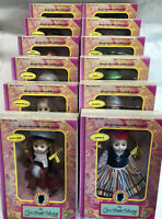 The New Bright Collection Bookcase Collectible Dolls Complete Set Of 12 1992 NEW