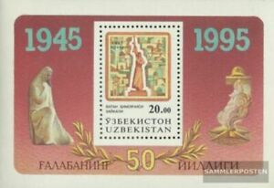 Uzbekistan block5 (complete issue) unmounted mint / never hinged 1995 2. War