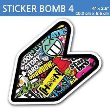 "4"" Sticker Bomb 4- JDM Wakaba Leaf Flag Decal Shoshinsha Mark Shocker Car Bumper"