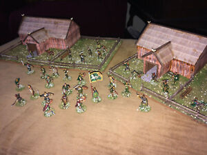 40 Painted 1/72 LOTR Rohan Warriors & Farmers Defending a Farmstead w Command !