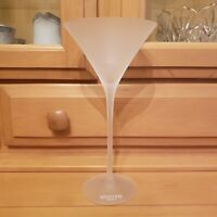 ONE BELVEDERE VODKA FROSTED TALL MARTINI GLASS EUC 9""