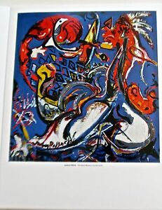 Jackson Pollock Poster The Moon Woman Cuts a Circle  14x11 Offset Lithograph
