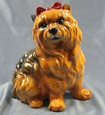 Yorkshire terrier hund Keramik  hundefigur lebensgroß porzellan figur