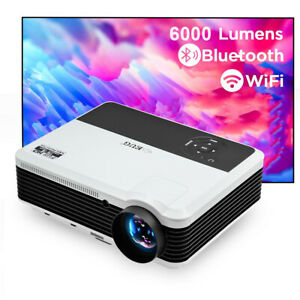 6000lm WiFi HD LED Projektor 1080P Heimkino Android 6.0 Blue-Tooth Youtube HDMI