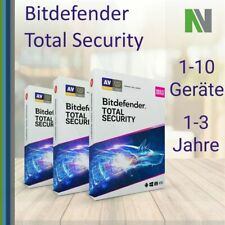 Bitdefender Total Security 2021 1 3 5 10 PC Geräte 1 2 3 Jahre VPN