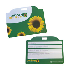 SUNFLOWER ID CARD HIDDEN DISABILITIES DISABILITY AUTISM SEN SEND ADHD INVISIBLE