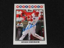 Washington Nationals Ryan Church Signed 2008 Topps Autograph Card #309  922