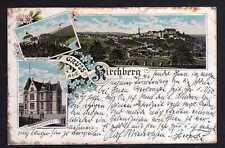 100014 AK Litho Kirchberg Villa Schön Eck 1896 Schloss Hornberg