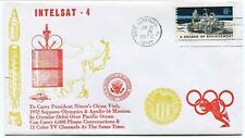 1972 Intelsat 4 President Nixon China Visit Sapporo Olympics Apollo 16 Phone TV