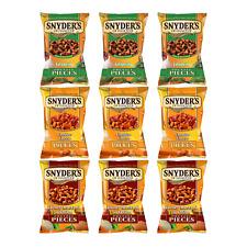 Snyder's pretzel pieces 9 x 125g, mix 3 Jalapeno, 3 Cheddar, 3 Honey & Mustard