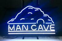 "Man Cave Sign Light Real Neon store Display Beer Bar Pub Mancave Sign17""X14"""