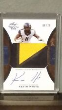 Kevin White 2015 Leaf Trinity Rookie Blue Patch Auto #6/25 WVU and Chicago Bears